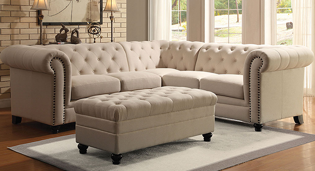 Oatmeal Sectional (Ottoman Sold Separately)